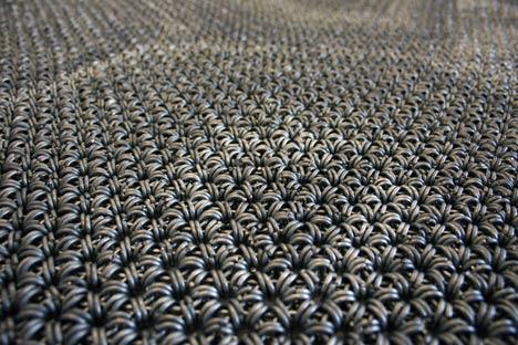 The Yachiyo metal rug by Philippe Malouin