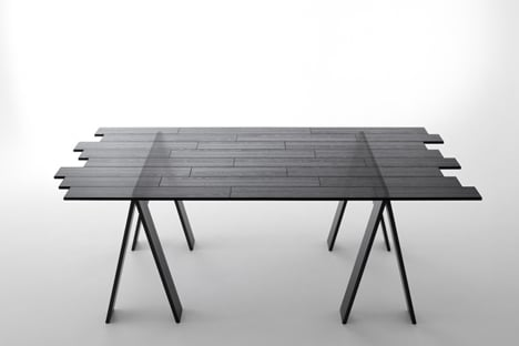 Transparent Table by Nendo