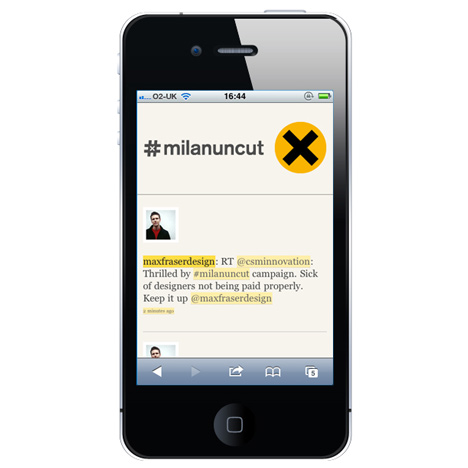 #milanuncut mobile app by Zerofee