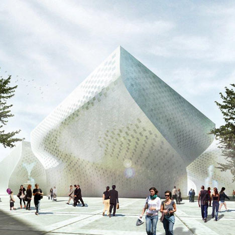 Dezeen Screen: Cultural Centre in Tirana by BIG