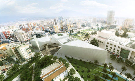 Cultural centre in Tirana by BIG
