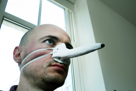 Finger-nose Stylus by Dominic Wilcox