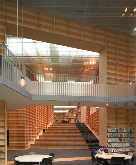 Musashino Art University Library by Sou Fuji