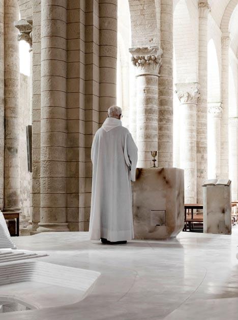 St Hilaire church in Melle by Mathieu Lehanneur