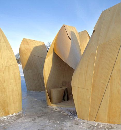Winnipeg Skating Shelters by Patkau Architects