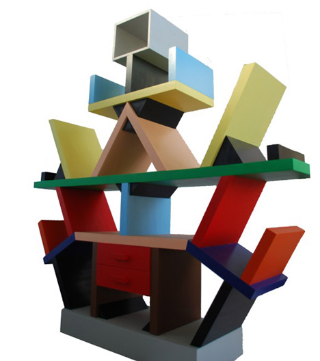 Carlton bookcase by Ettore Sottsass, copied by Evelyn Malinowska