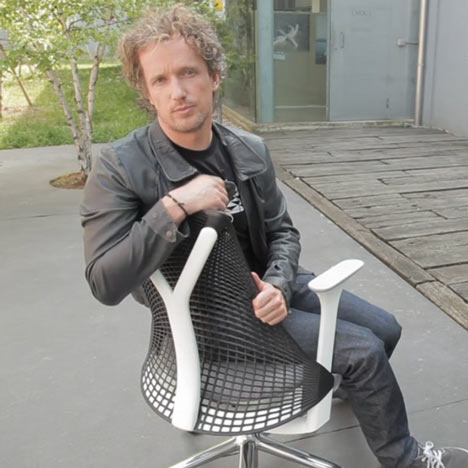 Dezeen Screen: interview with Yves Behar on Sayl chair