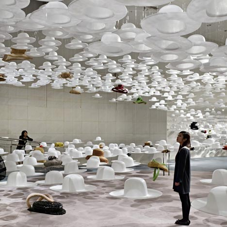 Akio Hirata's Exhibition of Hats by Nendo