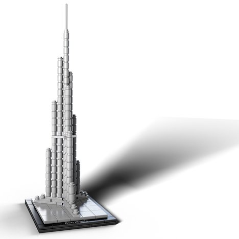 Burj Khalifa in LEGO bricks