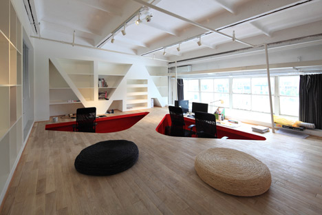 Red Town Office by Taranta Creations