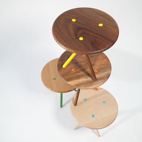 Soft side tables by Curtis Popp