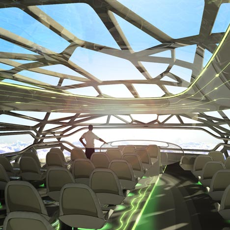 Transparent aeroplane by Airbus