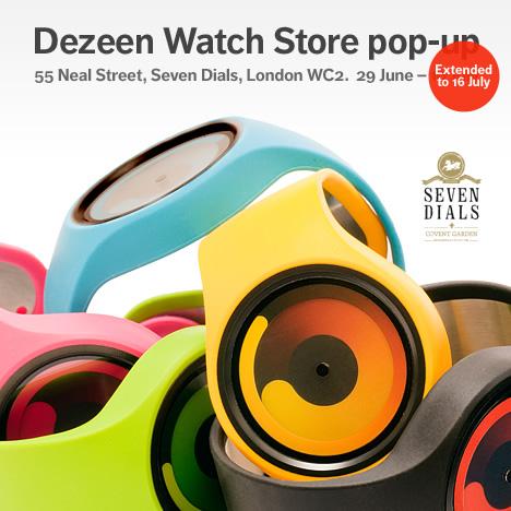 Dezeen Watch Store pop-up 55 Neal Street extended