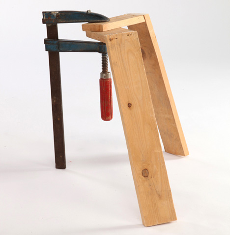 Clamped Stools by Daniel Glazman