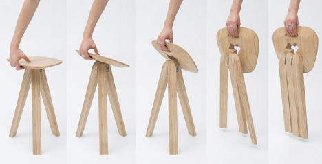 Folding Stool by Jack Smith