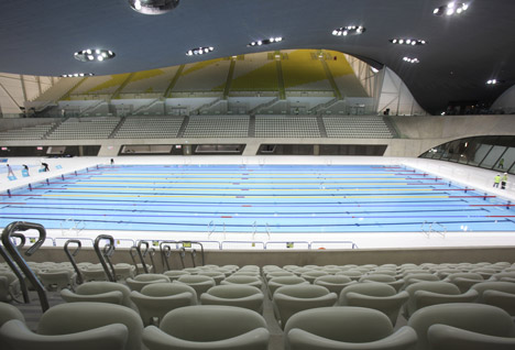 london 2012 aquatics centre by zaha hadid architects - Olympic Swimming Pool 2012