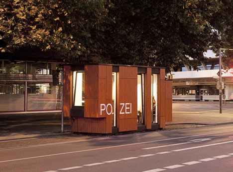 Mobile Police Station by Gesamtkonzept Architekten