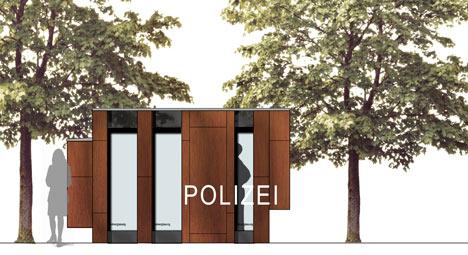 Mobile Police Station by Gesamtkonzept Architekten
