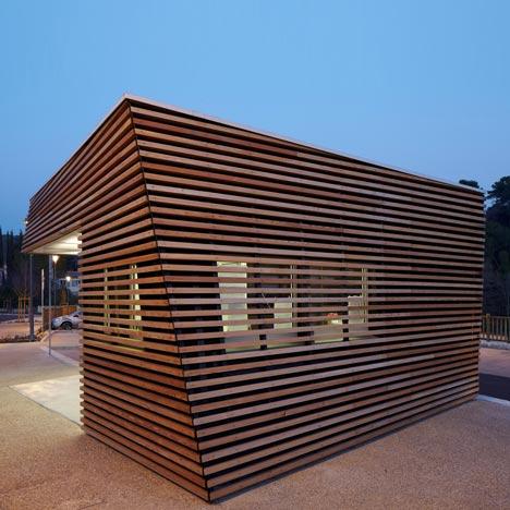 Parking Attendants Pavilion By Jean Luc Fugier Dezeen