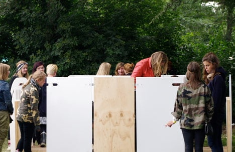 pollee by uiwe dezeen at the festival three different versions of pollee varying degrees of privacy were placed alongside each other pollee shy pollee topless and pollee