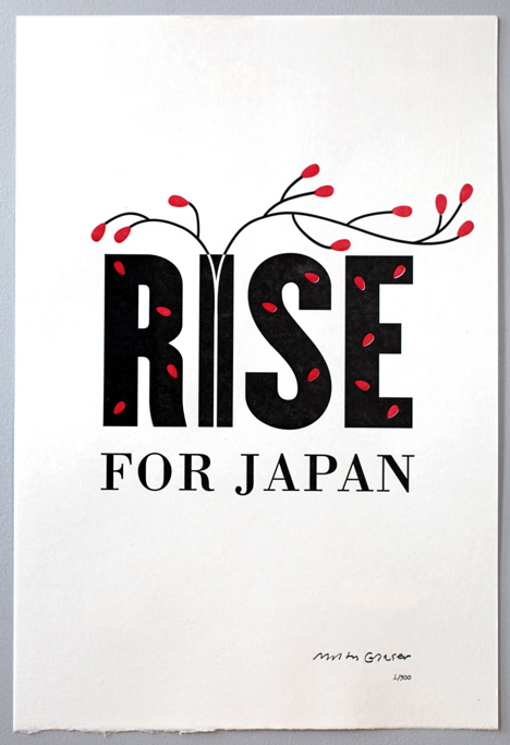 Rise for Japan by Milton Glaser