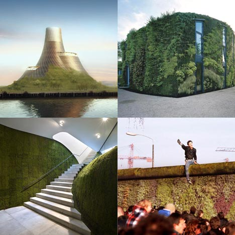 Dezeen archive: green walls