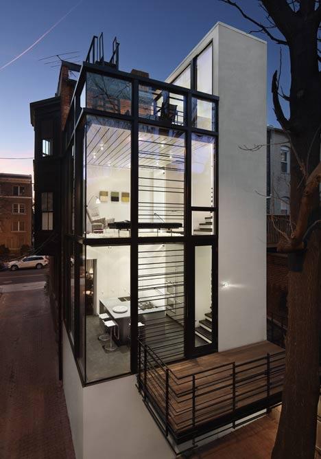 Barcode house by david jameson dezeen for Extension architecte