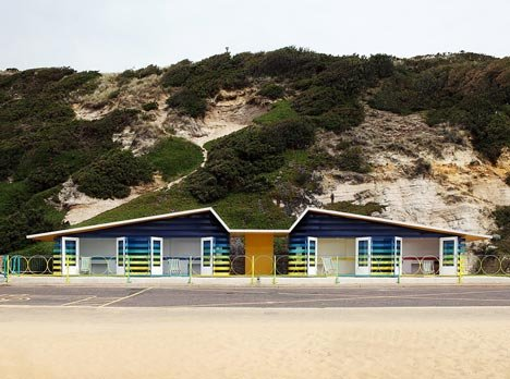 Boscombe Beach Huts by a b i r Architects and Peter Lewis