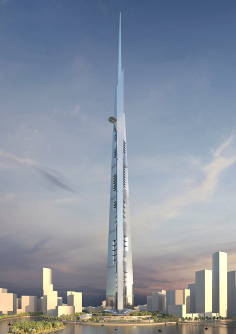 Kingdom Tower - world's tallest building to be built in Jeddah