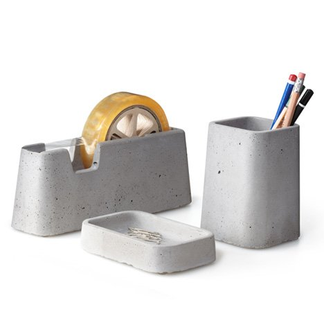 Solid desk accessories by M