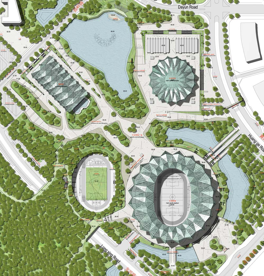 Universiade 2011 sports centre by gmp architekten dezeen for Sports complex planning design