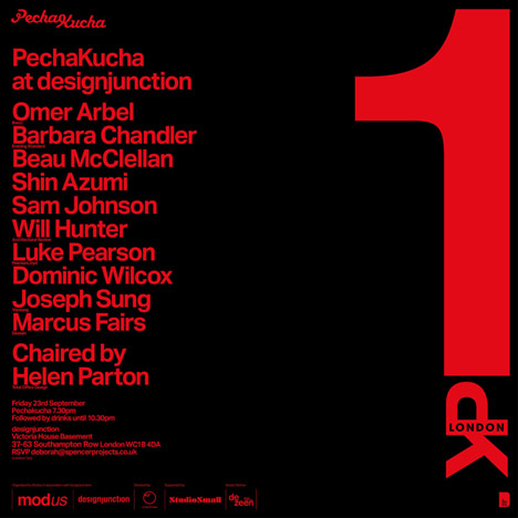 Pecha Kucha at designjunction
