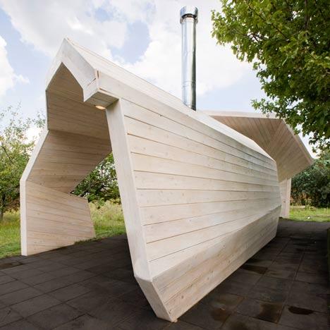 Gazebo for TV show by Za Bor Architects