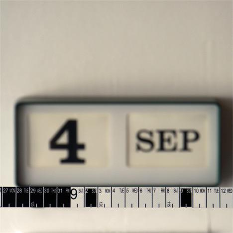 Measure calendar by Hiroyuki Miyake