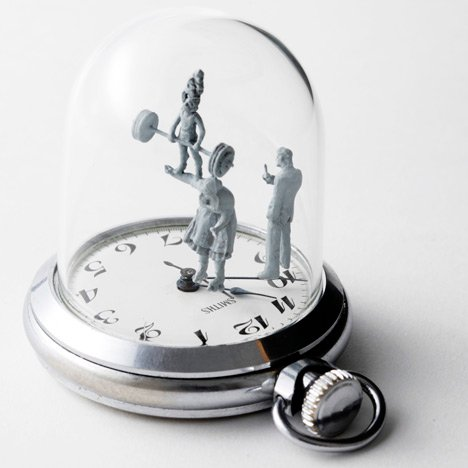 Watch sculptures - Moments in Time by Dominic Wilcox