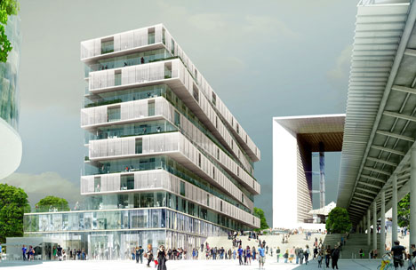 Housing for Jardins de l'Arche by Farshid Moussavi