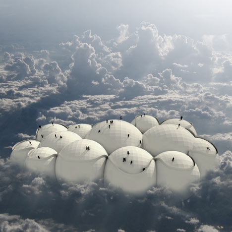 New York architect Tiago Barros proposed a transport solution based on floating balloons.