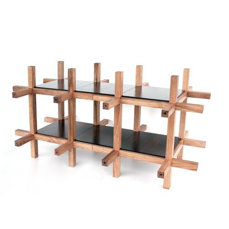 Chidori furniture by kengo kuma and associates dezeen for Traditional japanese furniture