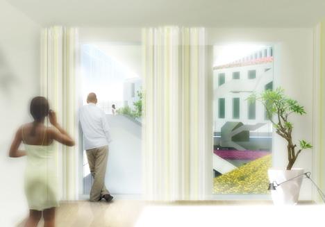 Flowerbed Hotel by MVRDV
