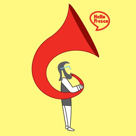 Horn Man Design