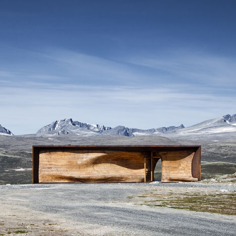 Norwegian Wild Reindeer Centre Pavilion by Snohetta