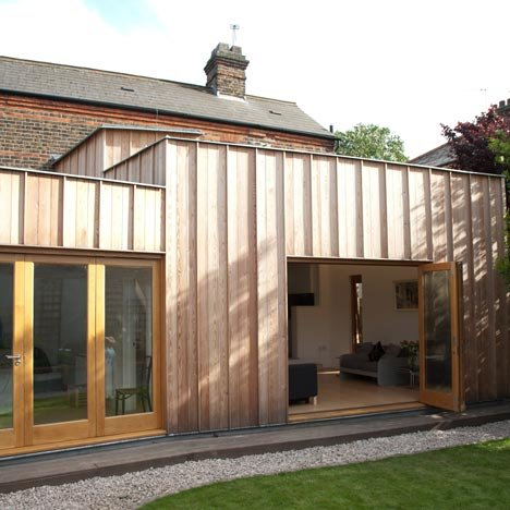 Timber Fin House in Walthamstow by Neil Dusheiko Architect
