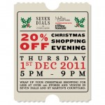 20% discount at Seven Dials Christmas shopping event on 1 December