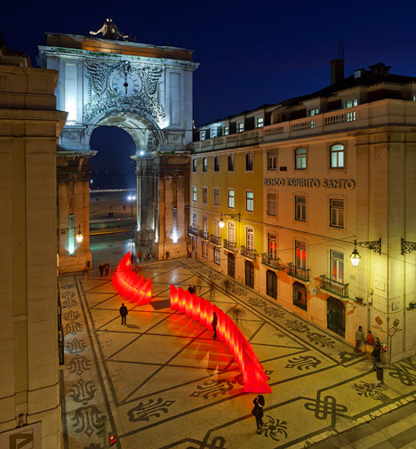 Lisbon Christmas Lights by Pedro Sottomayor, José Adrião and ADOC