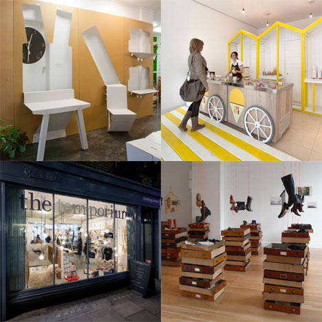 Dezeen archive: pop-up shops