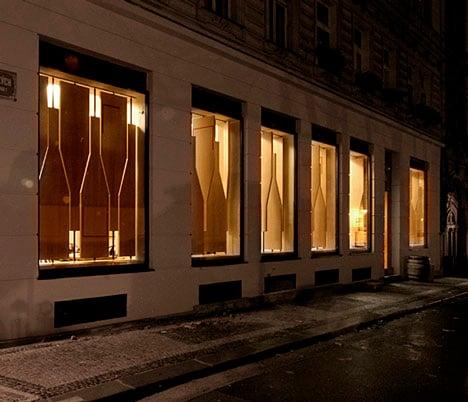 Red Pif Restaurant and Wine Shop by Aulík Fišer Architekti