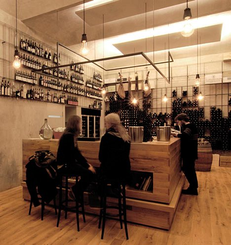 Red Pif Restaurant and Wine Shop by Aulík Fišer Architekti