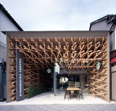 Starbucks Coffee at Dazaifu Dazaifu Tenman-gū by Kengo Kuma and Associates