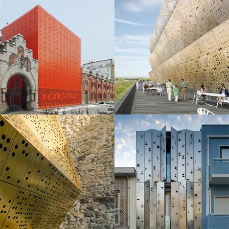 Dezeen archive: perforated metal facades