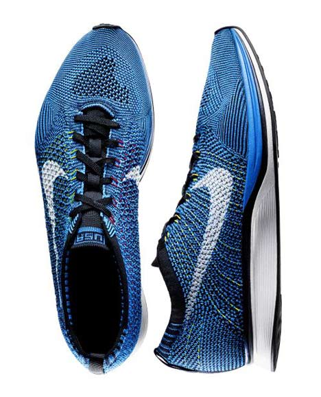 Flyknit running footwear  by Nike - blue